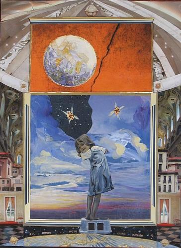 Diamonds In The Sky Original Artwork Collage Painting